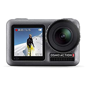 DJI OSMO Action Camera (Black) | Dual Screen | 12 MP Camera | 4K Recording Upto 60 FPS | Fast Mode Upto 240 FPS | HDR Recording 1
