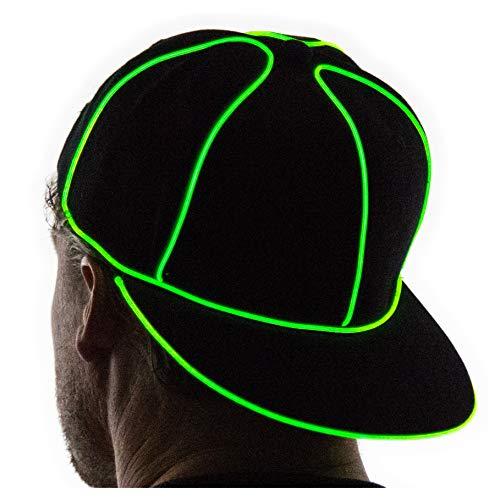 - Neon Nightlife Light Up Snapback Hat, Green