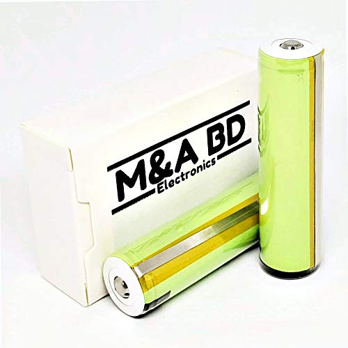 M&A BD 3.7V LG3400HG 3400mAh 10A Rechargeable Button Top Battery Protected - 2 Batteries