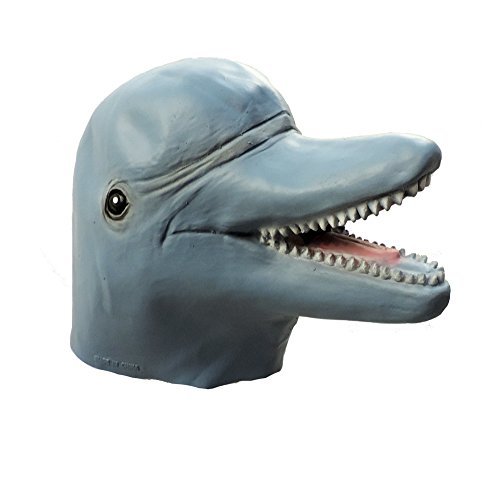 [Adult Bottle Nose Dolphin Latex Costume Mask] (Gill Man Costume)