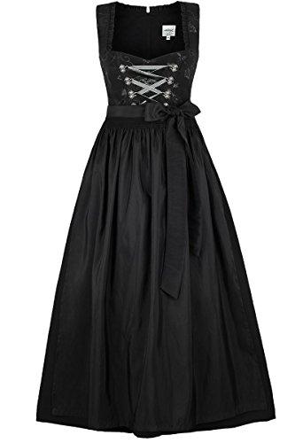 Damen Stützle Dirndl lang festlich schwarz, schwarz, 44