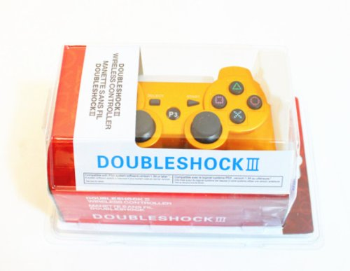 ONE HPP BRAND Double Shock 6 Axis Wireless Bluetooth Sony PS3 Game Controller - GOLD