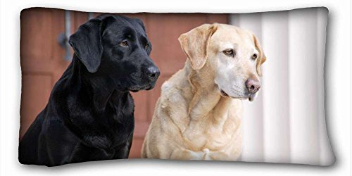 Custom Characteristic ( Dogs Labrador Retriever Dogs Dog Labrador Retriever Animal ) Soft Pillow Case Cover 20*36 Inch (One Sides)Zippered Pillowcase suitable for X-Long Twin-bed PC-Bluish-19091