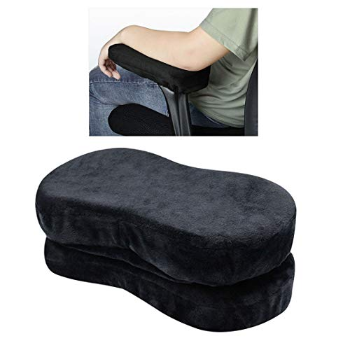 Enerhu Set of 2 Soft Armrest Pad Memory Foam Armrest Cover Armrest Replacement Pads Chair Arm Rest Pads for Office Home Chair Black by Enerhu