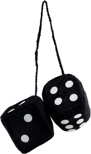 Bell Automotive Products Fuzzy Dice/Black (33605-1)