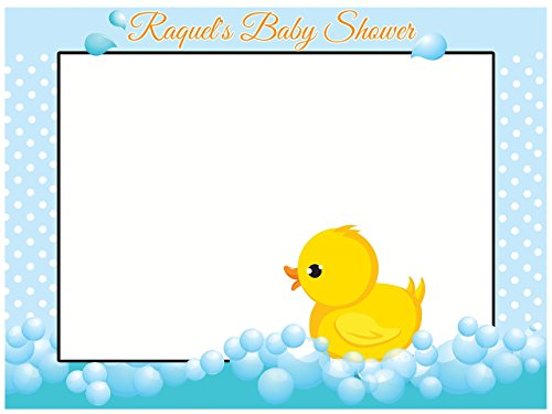 Large custom Rubber Duck baby shower photo booth frame - Sizes 36x24, 48x36; Duck Baby shower decorations, Baby Shower Photo Booth Props, selfie - Frames Glasses Numbers On