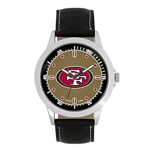 NFL San Francisco 49Ers Mens Player Series Wrist Watch, Silver, One Size