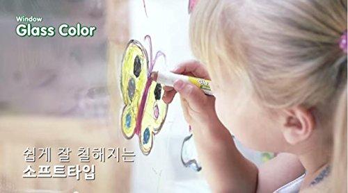 Toru Window Glass Color Crayon Marker Washable Paper Aqua Non-toxic 12 Colors by Toru (Image #5)