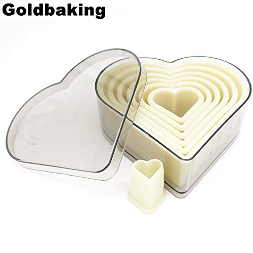 1 Set 7 Pieces Heart Cookie Cutter Set Biscuit Cutter Mold Nylon Moulds
