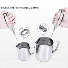 ❤️Features:   The handle of this product is sanding treatment and you will be more comfortable to use it.  Detachable whisk head easy to clean  This mini electric hand whisk is appropriate for stirring egg, coffee, milk or fruit juice, etc.  ...