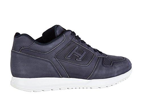 pelle Hogan in scarpe uomo sneakers h321 nuove foratura blu FwfzUwRqn