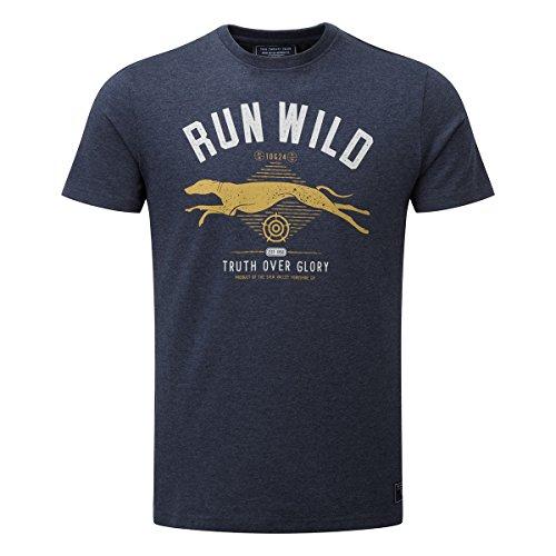 TOG 24 - Roberts Mens T-Shirt Run Wild Navy Marl - male