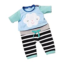 """Manhattan Toy Happy Little Cloud Baby Doll Outfit for Stella Dolls (2017), 15"""""""