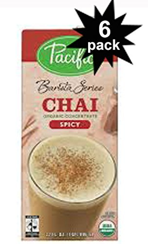 Organic Series (Barista Series Organic Spicy Chai Latte Concentrate 32oz. (6 Pack) by Pacific Natural Foods)