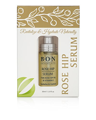 BON Rose Hip Facial Oil Serum. Natural Anti-Aging Topical Treatment to Improve Fine Lines & Wrinkles. Antioxidants and Vitamin C to Rejuvenate Skin Cells for Glowing Complexion (1-pk) 30 ml/ 1 fl oz