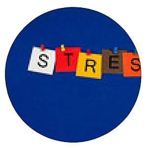 alfombrilla de ratón El estrés ..? Inscripción para los negocios, la salud y la salud mental. - ronda - 20cm