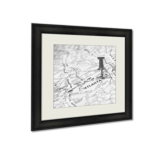 Ashley Framed Prints Atlanta Us, Wall Art Home Decor, Black/White, 34x34 (frame size), AG5640232 by Ashley Framed Prints