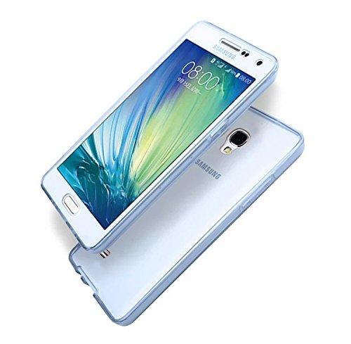 Sunroyal Samsung S4 i9500 i9505 | Funda Carcasa Protectora 360 Grados | TPU en Transparente Full Body | Completa Doble Tapa Delantera [Frontal + Trasera] Silicona Gel Cobertura Case Cover Smartphone M A-03