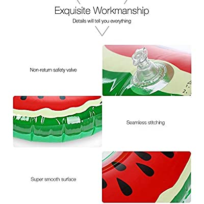 Fruit Pool Float, MUMAX Watermelon Tube Ring Inflatable Durable Summer Swim Pool Party Float for Adults and Kids (90cm): Toys & Games