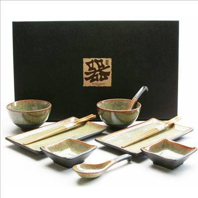 10 Piece Japanese Dinnerware Sets BR  sc 1 st  Amazon UK & 10 Piece Japanese Dinnerware Sets BR: Amazon.co.uk: Kitchen u0026 Home