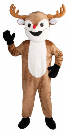 Forum Novelties Men's Deluxe Reindeer Mascot Adult Costume, Brown, (Mascot Costumes Japan)