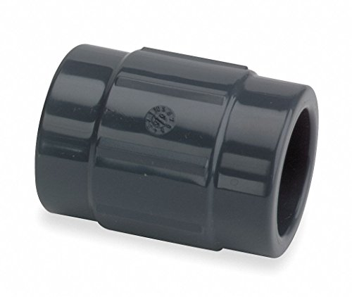 "GF Piping Systems PVC Pipe Fitting, Coupling, Schedule 80, Gray, 2"" Slip Socket from GF Piping Systems"