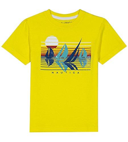 Nautica Boys' Short Sleeve Solid Crew-Neck T-Shirt, Ray Firefly, -