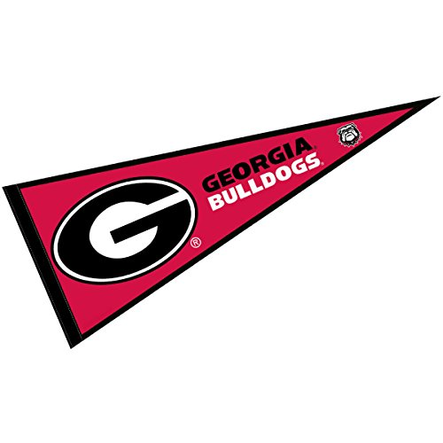 (College Flags and Banners Co. Georgia Bulldogs Pennant Full Size Felt)