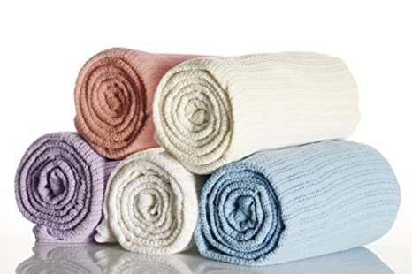 Coperta per letto in 100% cotone misura letto singolo 180 x 228