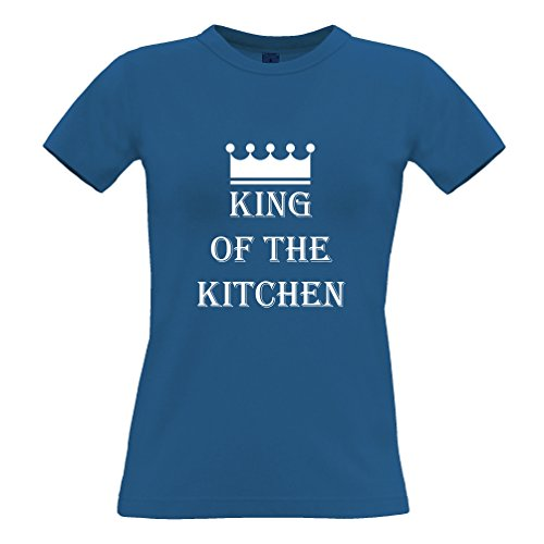 Tim and Ted King Of The cucina Camera Cooking Chef Cook divertente Slogan T-Shirt Da Donna