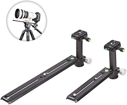 Telephoto Long-Focus Lens Bracket Clamping Pillar Camera Support Holder Nodal Slide Plate for Hydraulic Manfrotto-Standard Tripod Head (250mm)