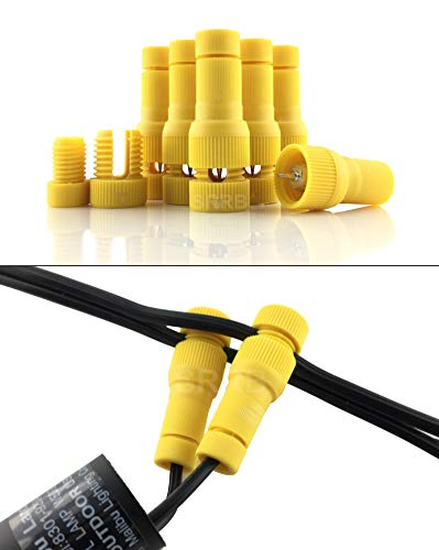 SRRB Direct Low Voltage Replacement Landscape Light 12-14 Gauge Cable Connector for Malibu Paradise Moonrays and More ()