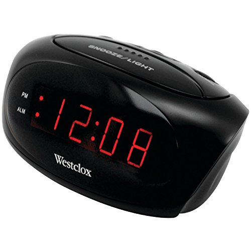 Westclox 70044A Super-Loud LED Electric Alarm Clock, Black