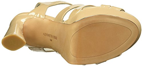 Kenneth Cole New York Women's Nealie Platform Heeled Sandal Dark Nude Patent Rebcah