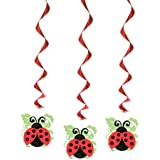 "26"" Hanging Ladybug Party Decorations, 3ct"