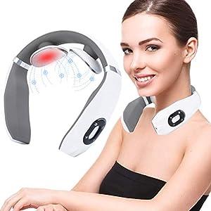 Masseur Cervical, Masseur Cervical Intelligent, Masseur de nuque portable, adapté à la courbe du corps humain, 6 Types…