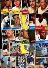 25 Different Vintage Topps Baseball Cards from the 1960's - Shipped in Protective Display Album! ()
