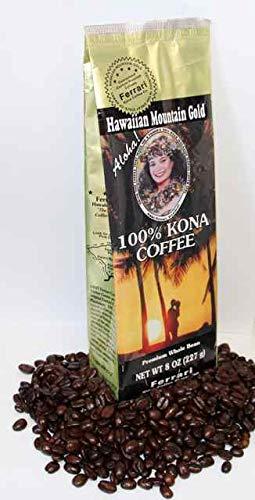 100% Kona Coffee, Medium Roast, Whole Bean, 8 oz.