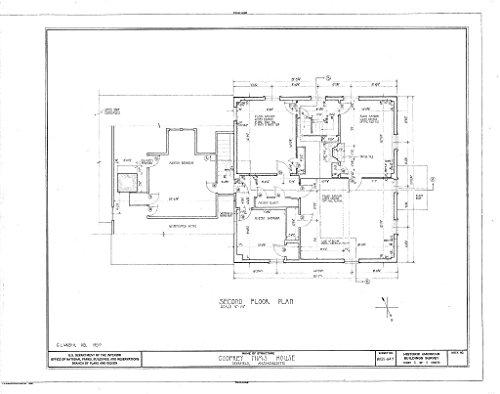 - Historic Pictoric Blueprint Diagram HABS Mass,6-Deer,15- (Sheet 3 of 5) - Godfrey Nims House, Old Deerfield Street & Memorial Road, Deerfield, Franklin County, MA 30in x 24in