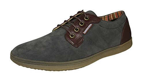 Lambretta Rico Mens Casual Sneakers / Shoes Grey