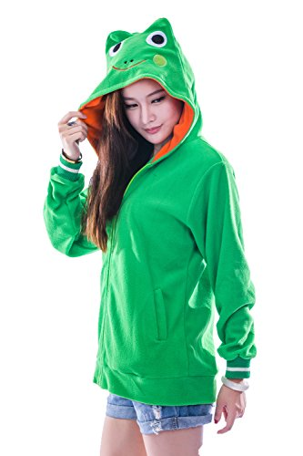 Unisex Animal Cosplay Frog Sweaters Hoodie Hooded Sweatshirts S