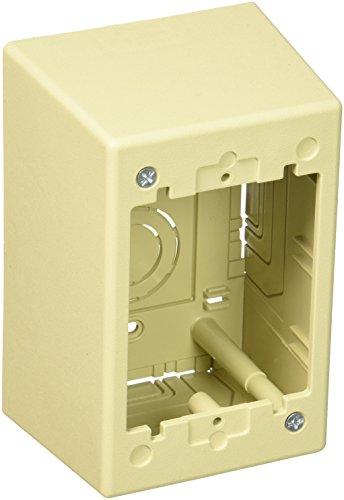 UPC 074983640751, Panduit JBP1DEI 1-Gang Deep Outlet Box, Electric Ivory