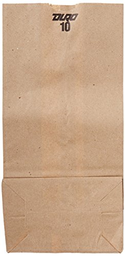 Duro ID# 18410 10# SOS Bag 35# 100% Recycled Natural Kraft 500pk 6-5/16 x 4-3/16 x 13-3/8