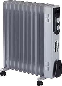 Jata R111 Radiador de aceite con 11 elementos caloríficos 2500 W, Blanco