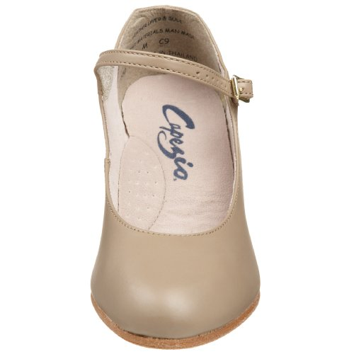 Capezio Womens 650 Scarpa Da Footlight Da Studente Con Carattere Tan
