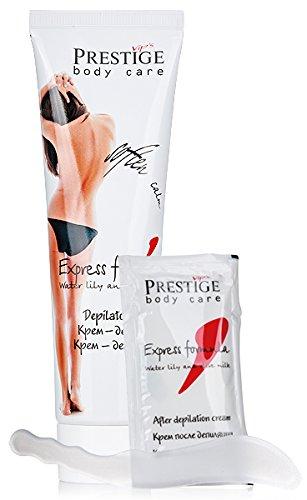 Vips Prestige - Crema Depilatoria Express Formula con espátula y crema calmante posterior