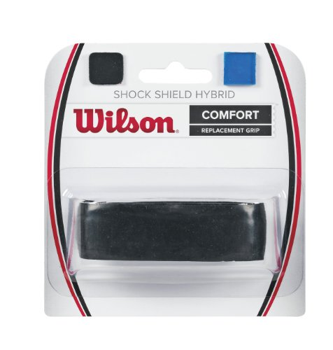 Wilson Shock Shield Hybrid Tennis Racquet Replacement Grip, Black