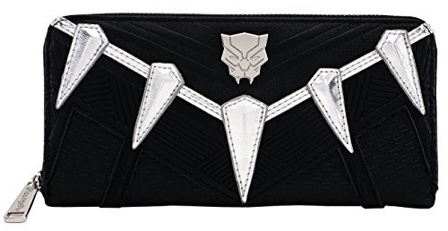 (Loungefly Black Panther Faux Leather Zip Around Wallet)