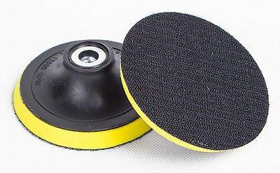 (Qty.4) 4-Inch M10 Angle Grinder Sanding Polishing Velcro Backing Pads