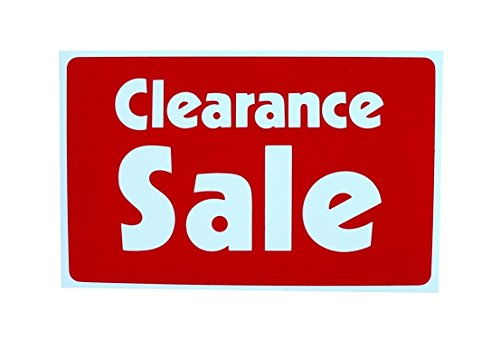 1-Pc Splendid Popular Clearance Sale Sign Discount Indoor Declare Store Message Size 7